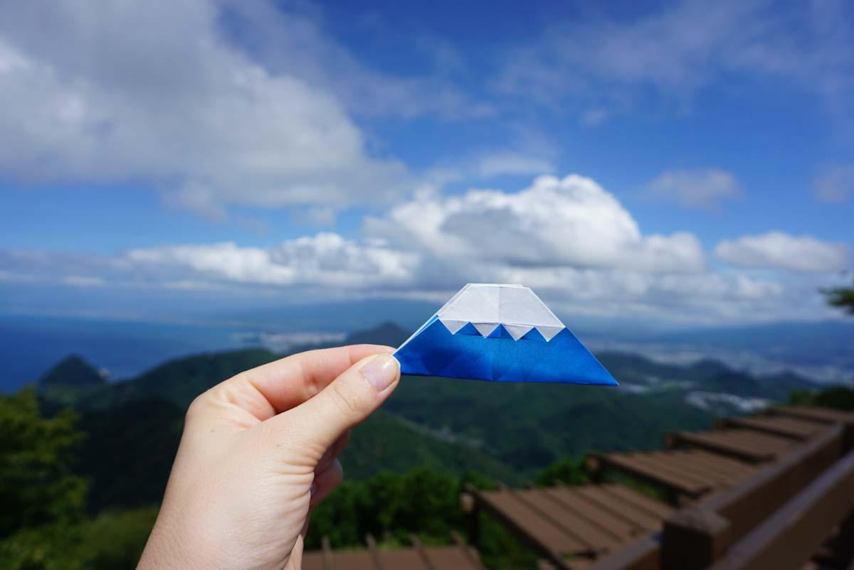 Origami of Mt Fuji in Shizouka Japan